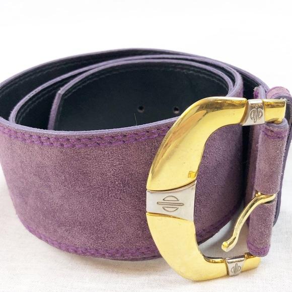 emmanuel Accessories - Vintage 80's purple suede Emmanuel Belt size M